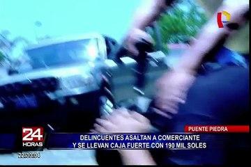 Puente Piedra: delincuentes robaron caja fuerte con 190 mil soles