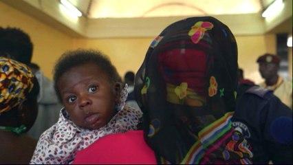 Gambian migrants return home from Libya