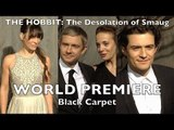 """The Hobbit: The Desolation of Smaug"" LA Premiere Martin Freeman, Orlando Bloom, Evangeline Lilly"
