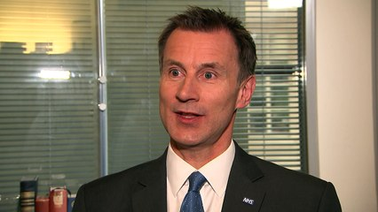 Hunt: The future of the NHS relies on Brexit negotiations