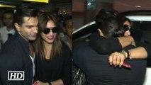 Karan welcomes his LOVE Bipasha with hugs and kisses