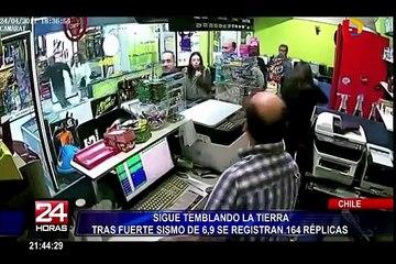 Se registran 164 réplicas tras sismo de 6,9 en Chile