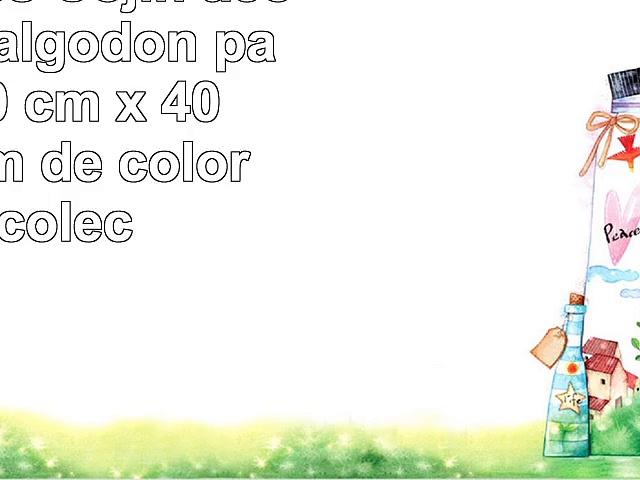 Homescapes Cojín acolchado en algodón para silla 40 cm x 40 cm x 10 cm de color Azul