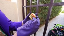 Spiderman ICE CREAM DRIVE THRU Prank! w  Joker Hulk Play Doh Ice Cream Fun for Kids Video Real Life