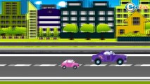 Emergency Vehicles - The Police Car - Service Vehicles - The Tow Truck. Car Cartoons for children