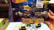 Toy Trucks - Hot Wheels Monster Trucks - Mighty Mini Monster Jam Showdown Stadium by Famil