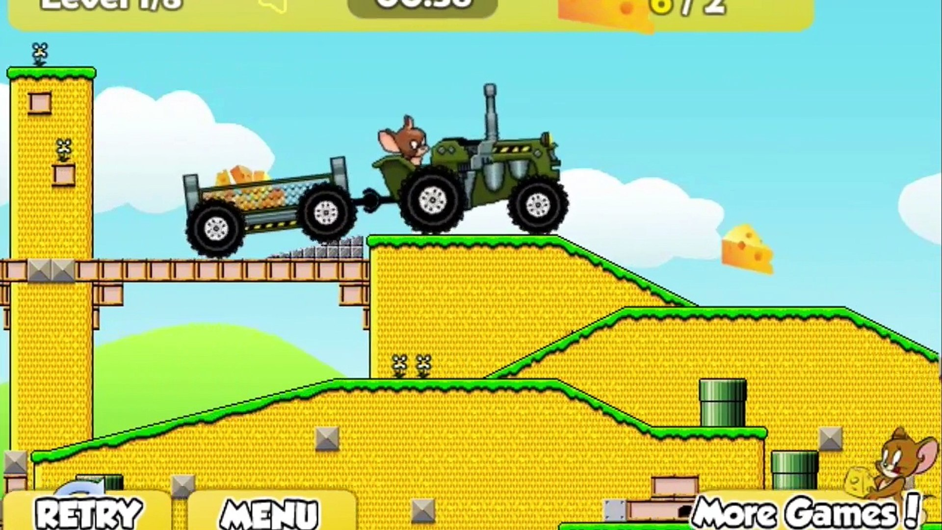 Tom and Jerry Tractor - Cartoon Game for Kids Game | Tom and Jerry | Kids Gaming Shows TV
