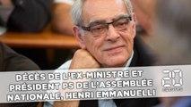 Décès de l'ex-ministre et président PS de l'Assemblée nationale Henri Emmanuelli