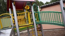 Outdoor Playground with Huge Swing, Slides and Fun in the Park Kids Fun Play