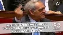 Quand Henri Emmanuelli faisait un doigt d'honneur à François Fillon