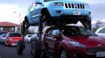 Doubler dans les bouchons en mode Transformers... SUV de dingue