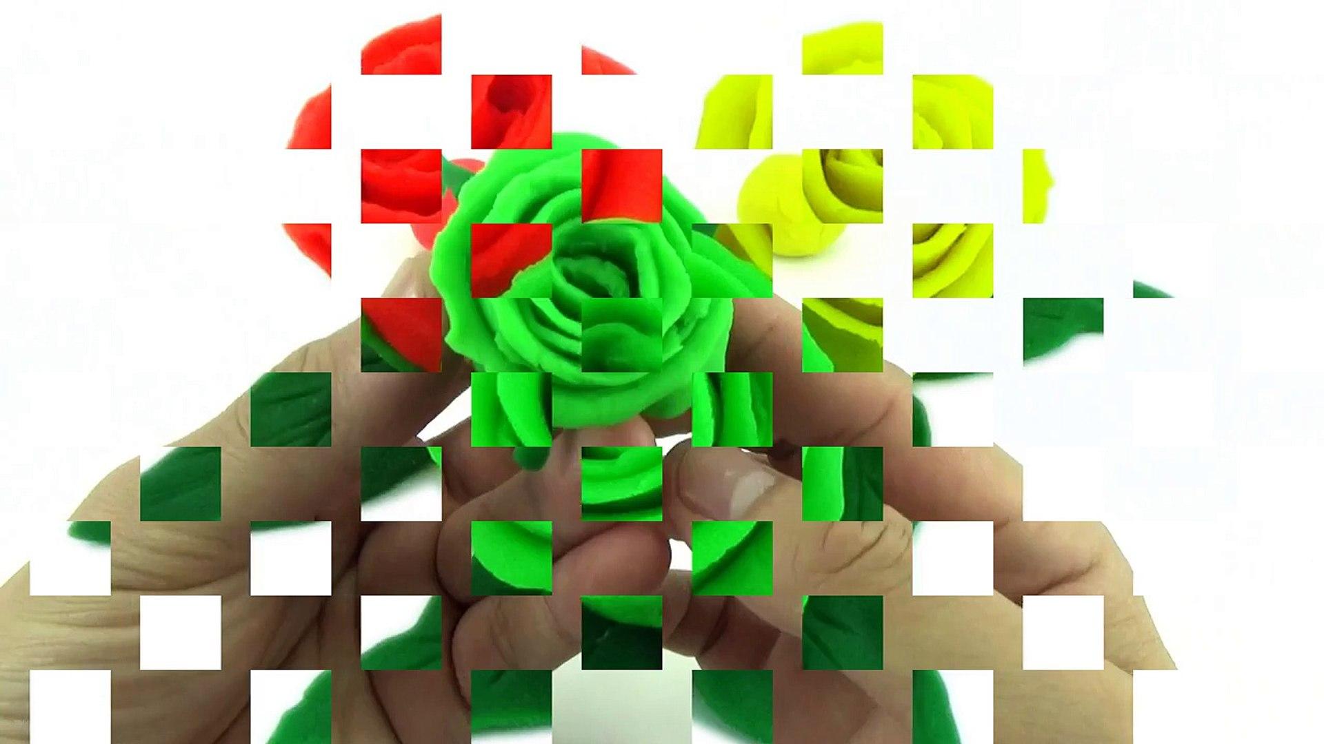Rainbow Play Doh Rose DIY Fun & Easy How to Make Beautiful Rainbow Rose Flower!