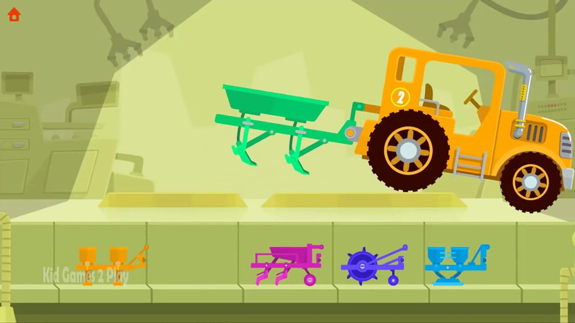 И Чил водить машину ферма фермеры для весело Игры Дети мало играть тракторы Комбайны