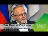 IPC President Sir Philip Craven - excited by the start of the Sochi 2014 Winter Paralympic games