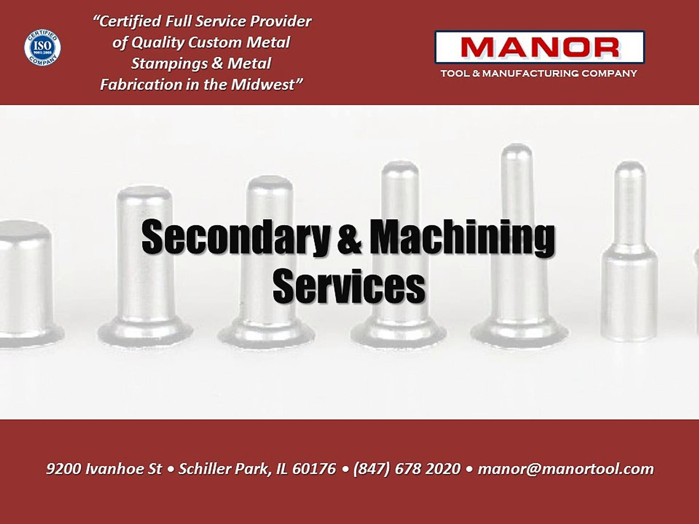 Secondary & Machining Services   Manor Tool