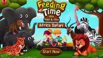 Kids Learn Feeding Wild Animals | Feeding Time 2 Africa Safari Kids - English Class Animal