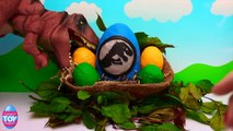 Jurassic World DINOSAUR Surprise Egg with Rex the T Rex Dino STF This awesome Play-Doh Din