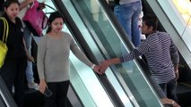 Touching Strangers Hand On Escalator!!! Watch The Reaction!!