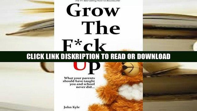 E-book Grow the F*ck Up - White Elephant   Yankee Swap gift, gag gift for men, birthday gift for