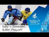 Italy vs. Sweden   5th-8th place full game   Ice sledge hockey   Sochi 2014 Paralympic Winter Games