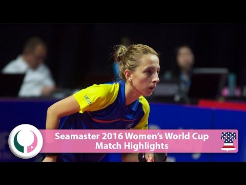 2016 Women's World Cup Highlights: Elizabeta Samara vs Shen Yanfei (Qual)