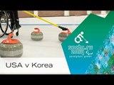 USA v Korea |Round robin| Wheelchair curling | Sochi 2014 Paralympic Winter Games