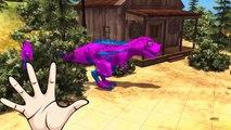Fat spiderman vs Hulk finger family 3d animation - Colors dinosaur finger family nursery r