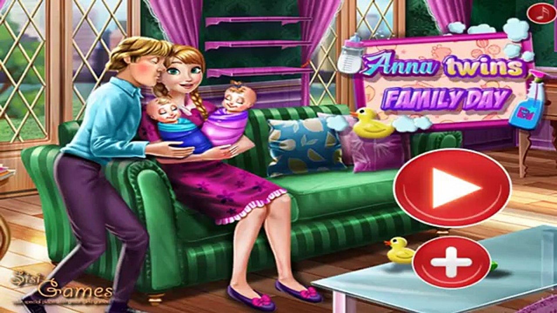 Анна двойняшки Семья день дисней Принцесса Анна и Кристофф Дети забота Игры
