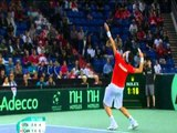 Official Davis Cup Highlights: Milos Raonic (CAN) v Fabio Fognini (ITA)