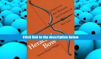 Popular Book  Heracles  Bow: Essays On The Rhetoric   Poetics Of The Law (Rhetoric of the Human