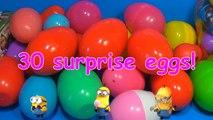 30 Surprise Eggs!!! Disney CARS MARVEL Spider Man SpongeBob HELLO KITTY PARTY ANIMALS LPS Animation-R3h7E03