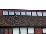 BMX Jump Off School Roof Fail