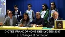 Dictée francophone des lycées 2017 : 2. Échanges et correction, Jean-Pierre COLIGNON