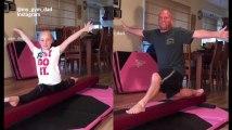 Sa fille fait de la gymnastique, il veut tout faire comme elle. Enfin, il essaie