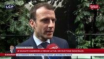 """Macron: """"un parlementaire ce n'est pas quelqu'un qui se fait rémunérer pour des fonctions de conseils"""""""