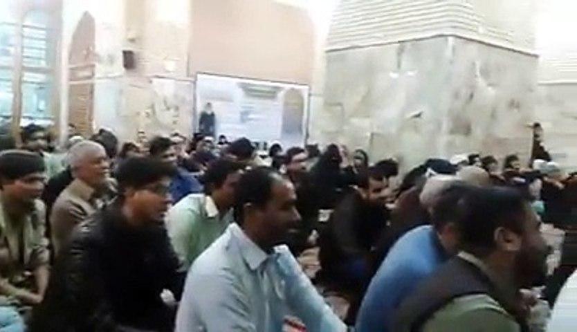 Syed Raza Abbas Zaidi Reciting Manqabat | Ali a.s Ali a.s | at Official Mimber of Haram-e-Mola Ali a.s