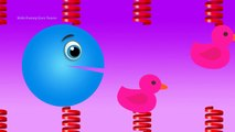 Learn Colors Pacman for Toddlers Kids - Spring Colors Packman - Fun Learning Colours Video