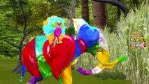 Животные цвета динозавры слон Семья бой палец горилла король конг лев рифмы против |