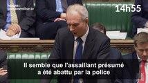 Le moment où les députés britanniques ont été informés de l'attentat de Londres