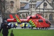 Londres : Un hélicoptère a atterri dans le parc du parlement pour soigner les blessés