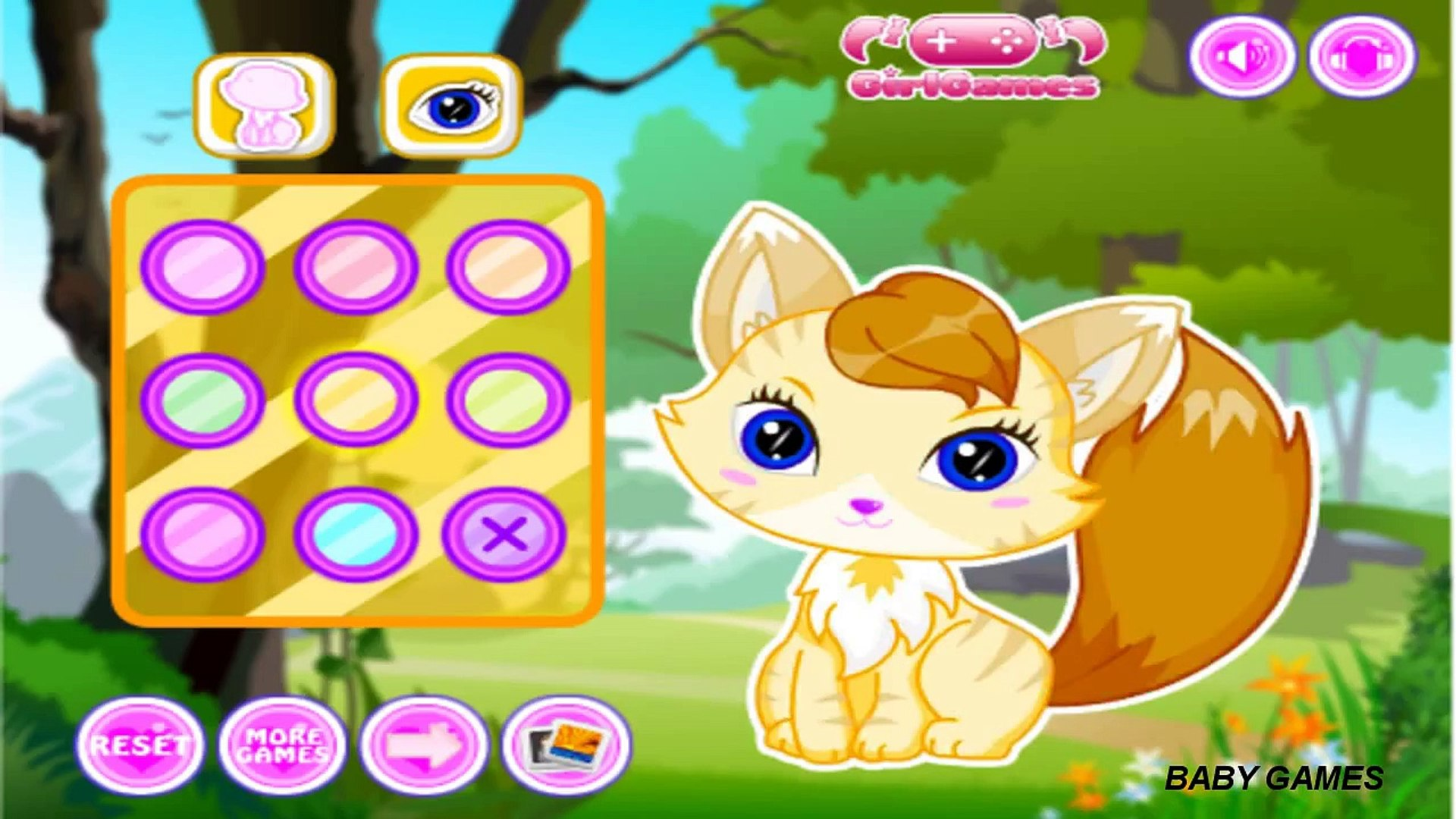 Animals and Pets Foxy Dress Up Funny Games || Kids Baby Games Youtube Videos