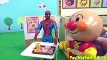 アンパンマン アニメおもちゃ ドーナツ売り切れちゃった❤ドーナツ屋さん ミスタードーナツ ミスド お店やさんごっこ スパイダーマン Toy Kids トイキッズ animation anpanman