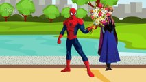 Spiderman Prank Frozen Elsa Waiting and Crying outside Toilet New! Finger Family Song Nurs
