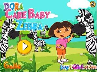 la pelcula de dibujos animados juego para las niñas Dora Funny Games For Kids Dora Care Baby Zebra 1
