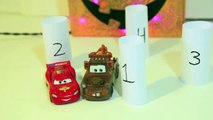 Disney Cars Mater Driving Backwards with Play Doh Mirrors Lightning McQueen Halloween Fun