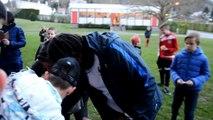 Entraînement de l'équipe de France U18 à Laon avant le France - Allemagne, à Chauny