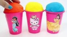 Hello Kitty Foam Clay KINDER Surprise Eggs Ice Cream Cups Minions Disney Princess RainbowL