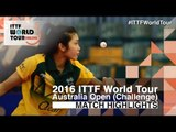 2016 Australian Open Highlights: Sarah Tan vs Emilie Hoareau (Qual)