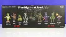 Five Nights at Freddys FnaF Collectable FUNKO Vinyl Figures set 1 & 2 unboxing Review Pup