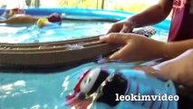 Thomas The Tank Pool Tracks Big Layout Train Crashes BoCo Bee & Shark Attack-E_miVyZOS1I